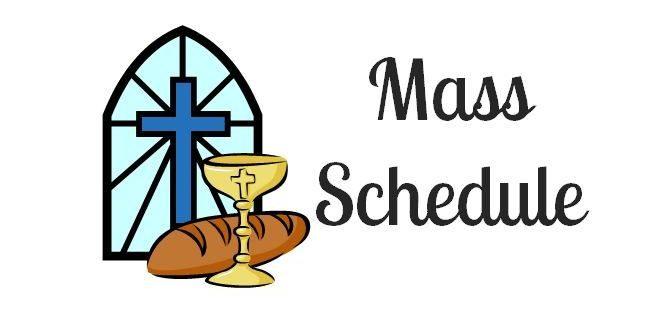 Online Mass Schedule January 2021